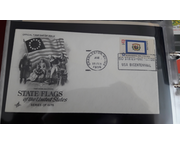 www.aukcije.hr - Pisma, dopisnice, FDC: FDC SAD - State flags of the US 1976.